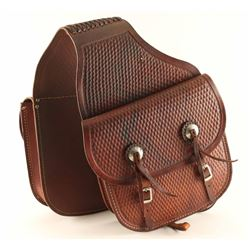 Tooled Leather Saddlebags