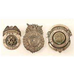 Lot of (3) Badges