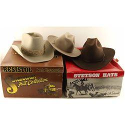Lot of 3 Cowboy Western Hats
