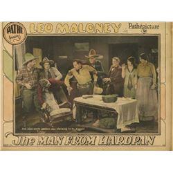 "Framed Western Lobby Card ""The Man From Hardpan"""