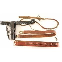 Holster, Belts & Coach Whip Lot