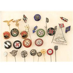 Lot of 31 German WWII Pins