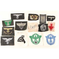 Lot of German WWII Military Cloth Insignia