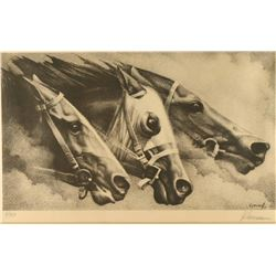 Print of Race Horses by Klorman