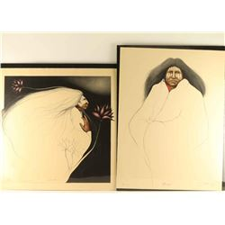 Lot of 2 Lithographs by Frank Howell