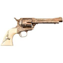 Engraved Colt Model 1873 SAA .38 Special