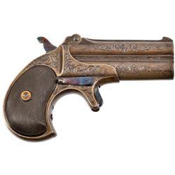 Engraved Remington Model 95 O/U Derringer