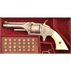 Engraved American Standard .22 Revolver Cased