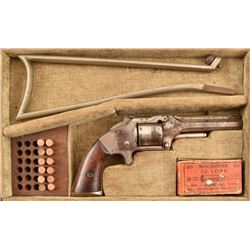 Cased S&W Spur Trigger .32 Revolver with Stock