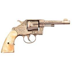 Engraved Colt DA Revolver .41