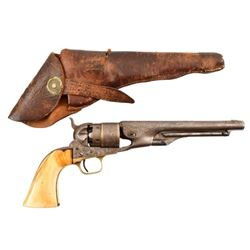 Engraved Colt Model 1860 Army with Holster