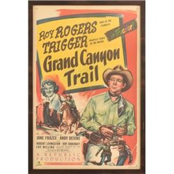 "Original Roy Rogers ""Grand Canyon Trail"" Poster"