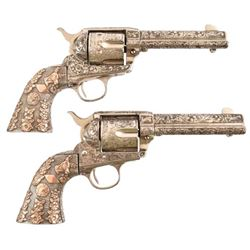 Pair of Highly Engraved Colt Single Action Army