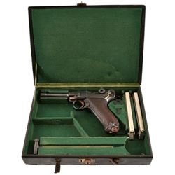 Rare DWM 1908 Bolivian Army Contract Luger Cased