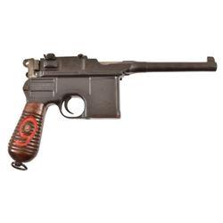 Broom Handle Mauser C96 Pistol With Shoulder Stock