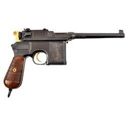 Engraved Broom Handle Mauser C96 Pistol