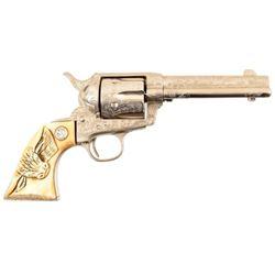 Engraved Colt 1873 SAA Steer Head Ivory Grips