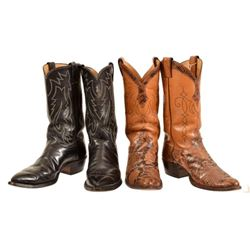 2 Pair of Lone Ranger Clayton Moore's Cowboy Boots