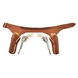 Pair of Colt Model 1873 SAAs In Double Holster