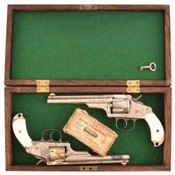 Cased Pair of Merwin Hulbert Revolvers