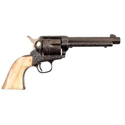Engraved Colt SAA Gold Indian Inlay .38 Special