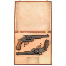 Engraved Pair S&W Russian No.3 Japanese Contract