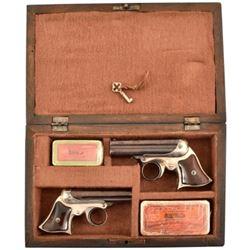 Cased Pair of Remington Elliot Zig-Zag Derringers