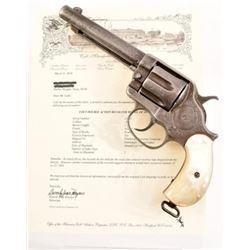 Factory Engraved Colt Model 1878 DA .44-40