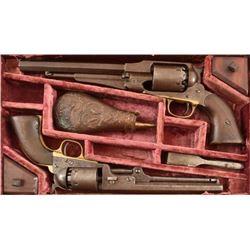 Cased Remington 1858 & Colt 1851 Navy Revolvers