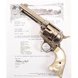 Factory Engraved Colt Model 1873 SA .38-40