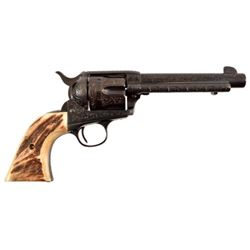 Pair of Engraved Colt Model 1873 SAA .38WCF