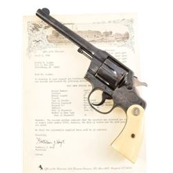 Factory Engraved Colt Army Special .32-20