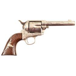 D.W. Harris Engraved Colt 1873 SAA Longhorn Grips