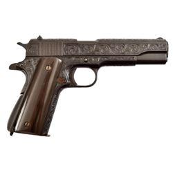 Engraved Colt Model 1911 .45