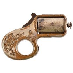 Engraved James Reid Knuckle Duster .22 Derringer