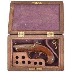 Cased Williamson Derringer Pistol