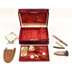 Parlor Box with Pipe Razor Knive & Push Dagger