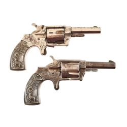 Pair of Engraved Norwich Pistols