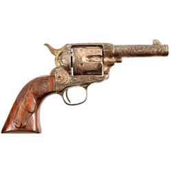 Engraved Colt Sheriffs Model Frontier Six Shooter
