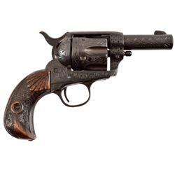 Engraved Colt Sheriffs Model .22 Conversion