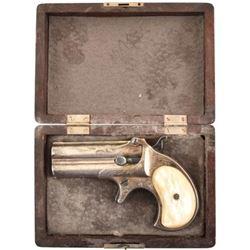 Engraved Remington O/U Derringer Cased