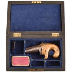 Engraved National Arms Derringer .41 RF Cased