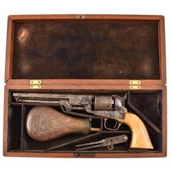 Cased Colt Model 1851 London Navy