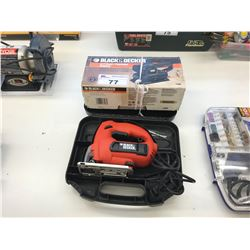 BLACK & DECKER 1/3 SHEET FINISHING SANDER & BLACK & DECKER JS500 JIGSAW WITH CASE
