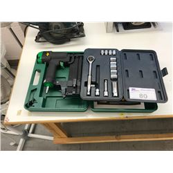 MASTERCRAFT SOCKET SET & ITC JUF1890 BRAD NAILER / NARROW CROWN STAPLER WITH CASE