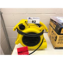 YELLOW COMMERCIAL BLOWER