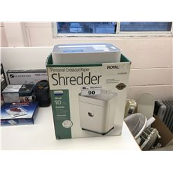 ROYAL PX1000MX SHREDDER & BOX OF ASSORTED EXTENSION PLUGS