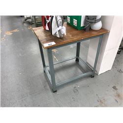 28 X 20 WOOD & METAL WORKING TABLE