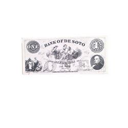 Django Bank of the De Soto Stack of Bills Movie Props