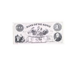 Django Bank of the De Soto Stack of Bills Movie Props